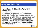 governing principle