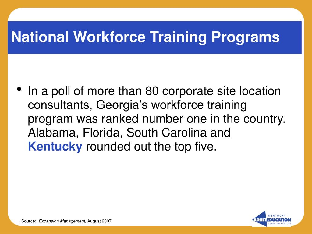 National Workforce Training Programs