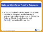 national workforce training programs