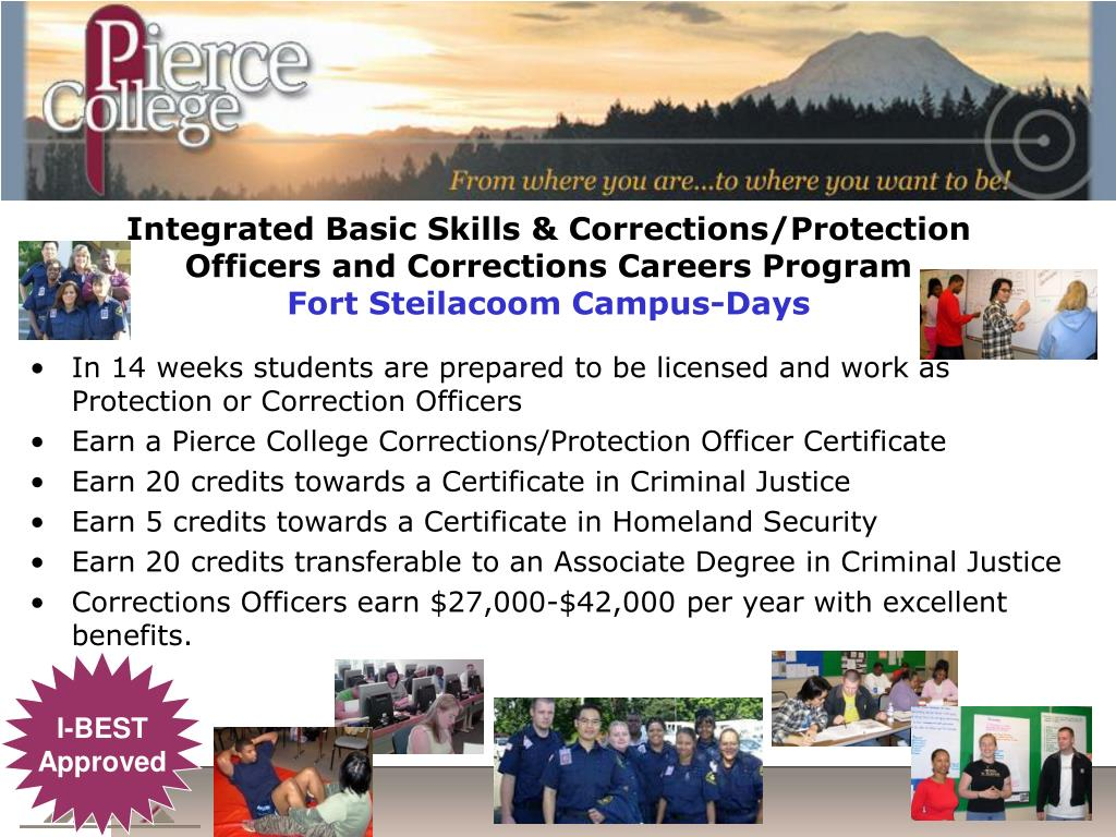 Integrated Basic Skills & Corrections/Protection Officers and Corrections Careers Program