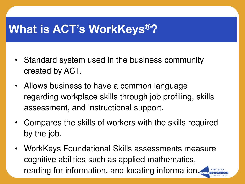 What is ACT's WorkKeys