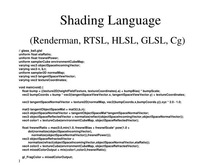Shading Language