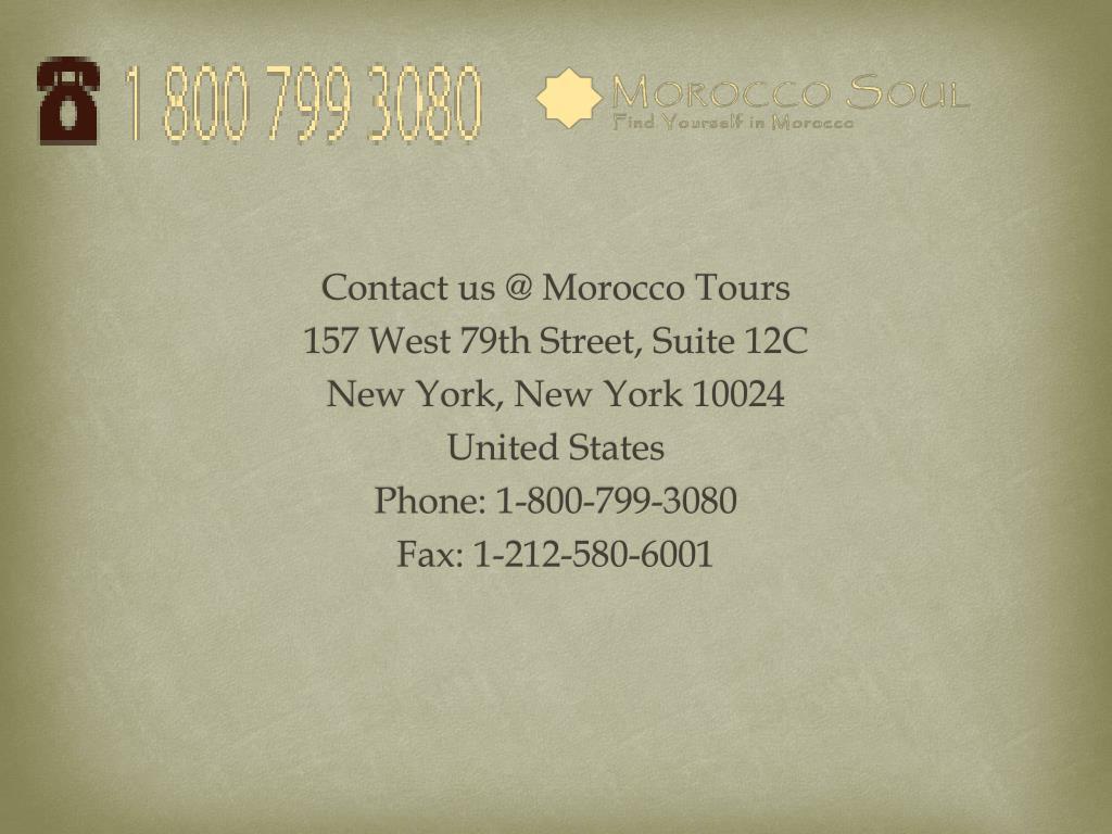Contact us @ Morocco