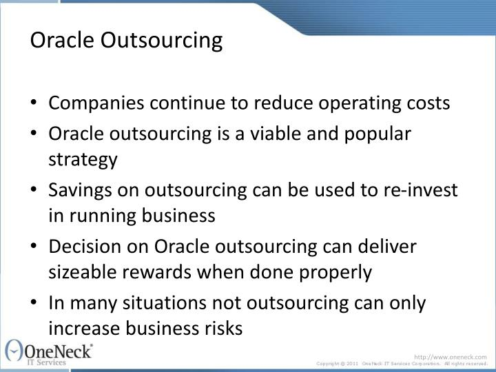 Oracle outsourcing2