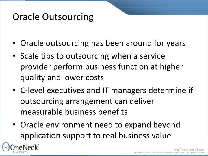 Oracle outsourcing3