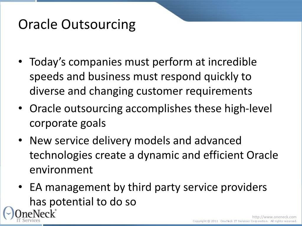 Oracle Outsourcing