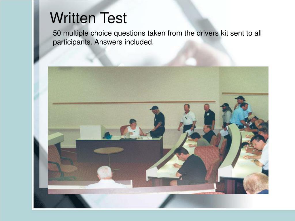 Written Test