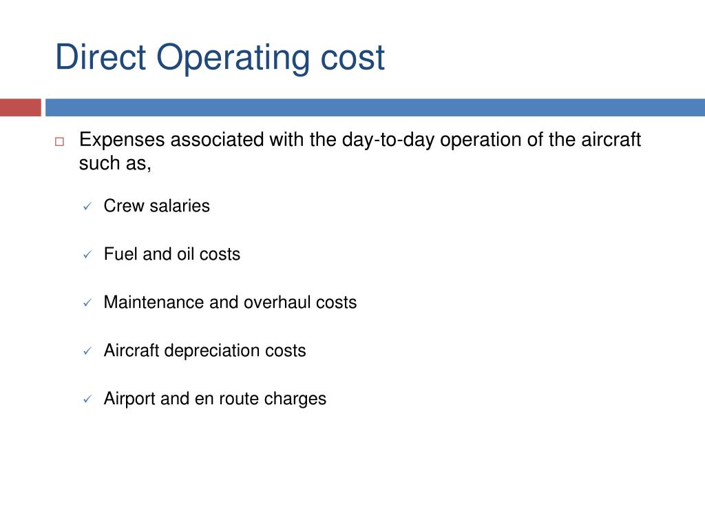 Direct Operating cost