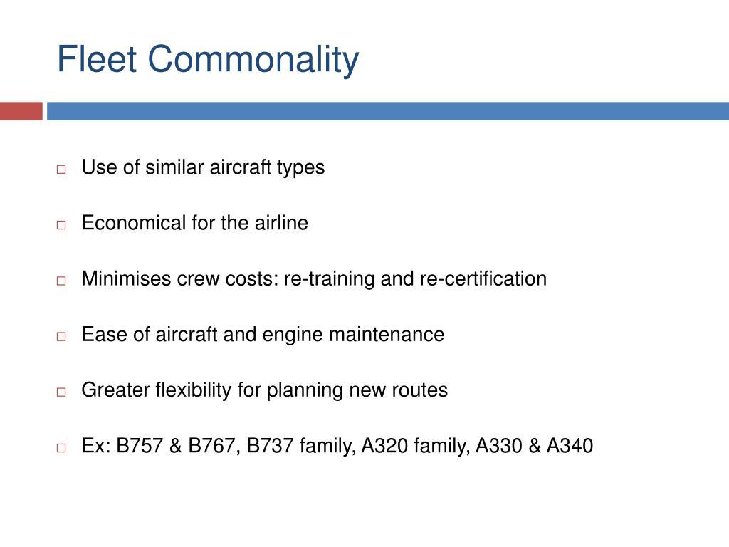 Fleet Commonality