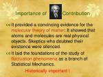 importance of contribution