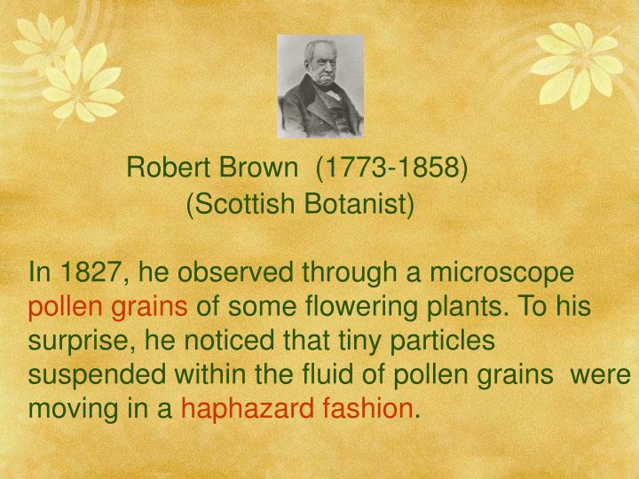 Robert Brown  (1773-1858)