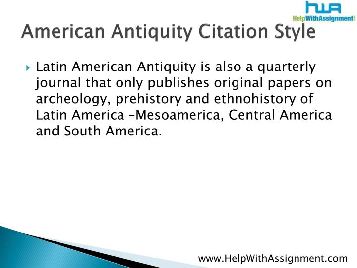 American antiquity citation style3