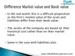 difference market value and book value