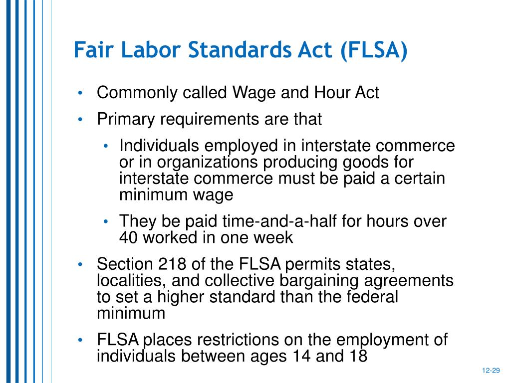 fair labor standards act and general § 201 short title this 29 cfr part 775 - general 29 cfr part 779 - the fair labor standards act as applied to retailers of goods or services.