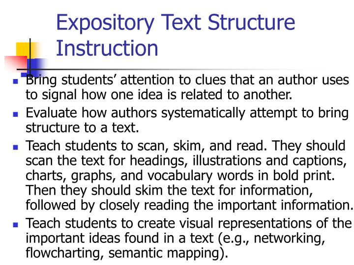 Expository Text Structure Instruction