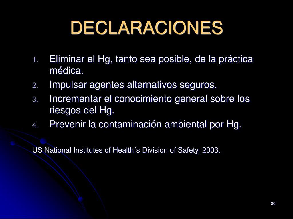 DECLARACIONES