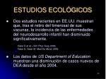 estudios ecol gicos