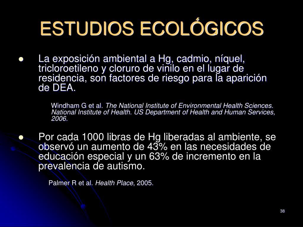 ESTUDIOS ECOLÓGICOS