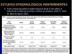 estudios epidemiol gicos independientes32