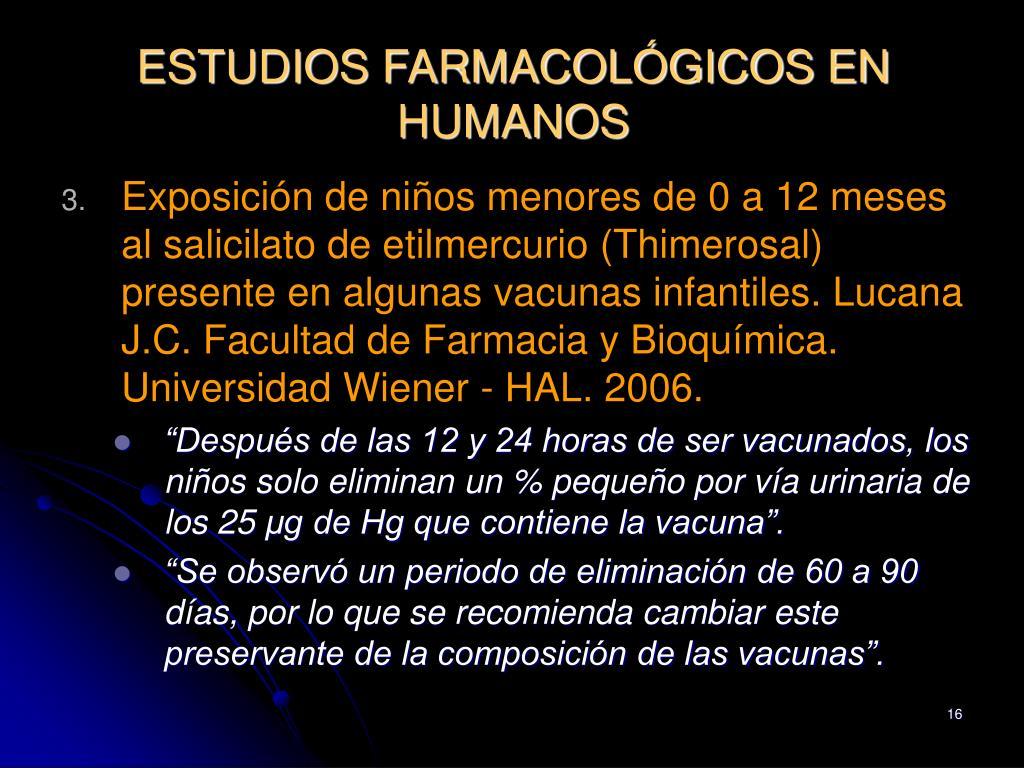 ESTUDIOS FARMACOLÓGICOS EN HUMANOS