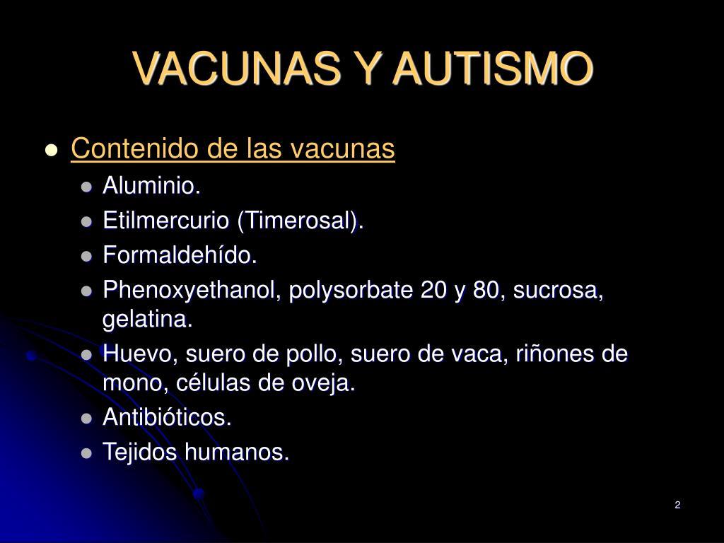 VACUNAS Y AUTISMO