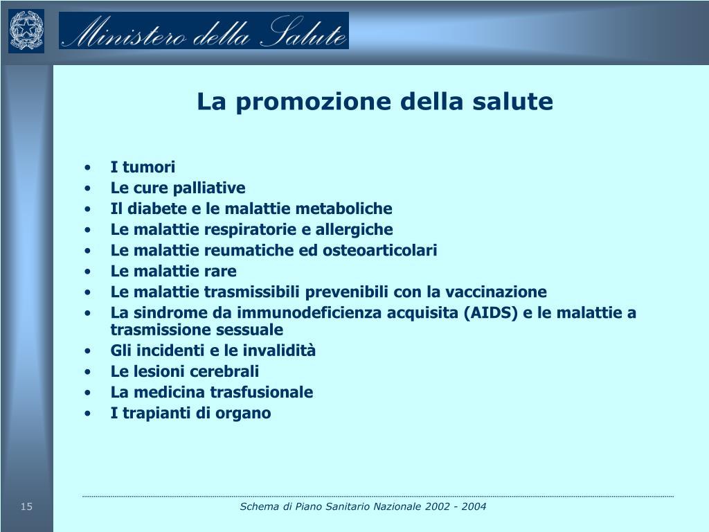 La promozione della salute