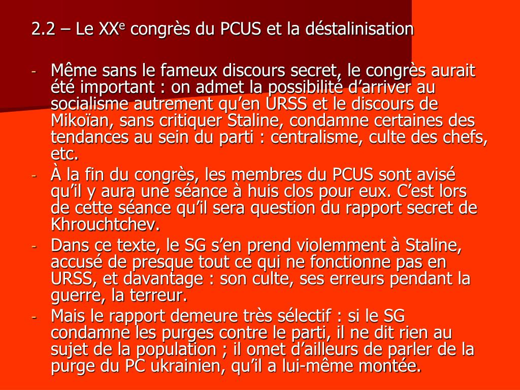 2.2 – Le XX