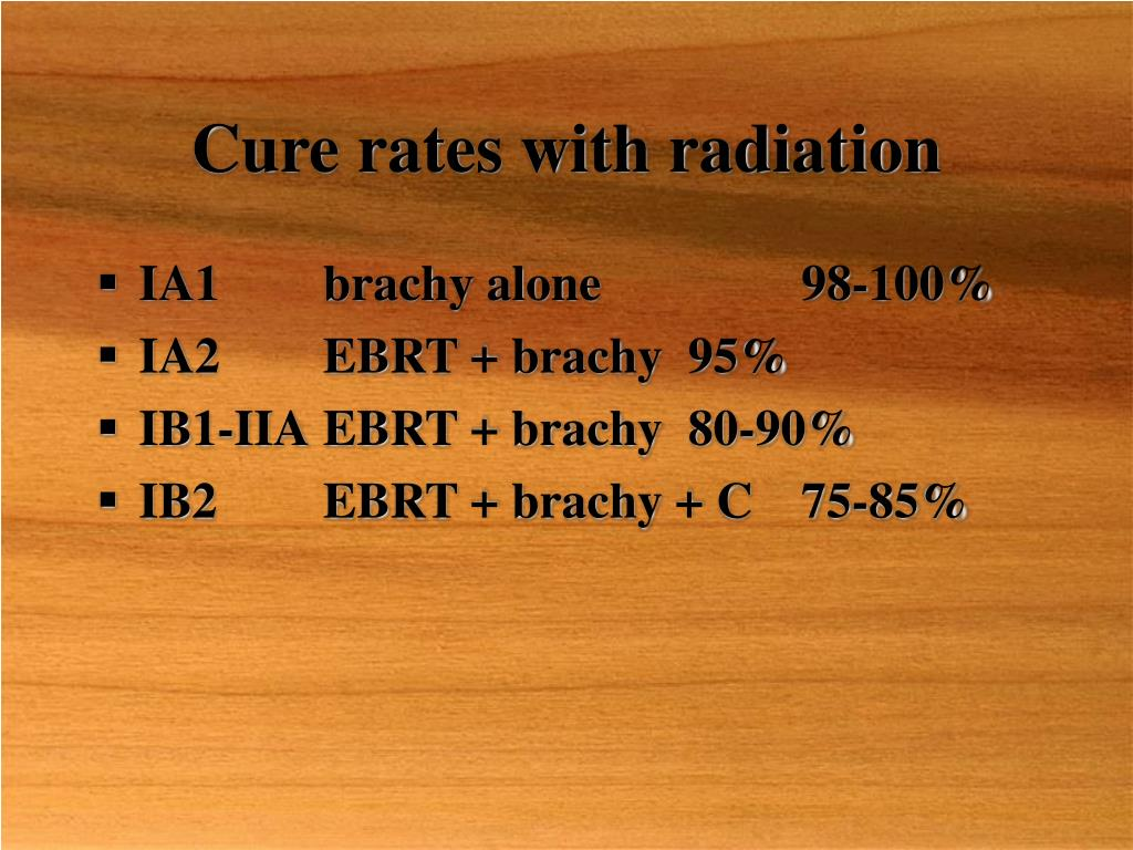 Cure rates with radiation