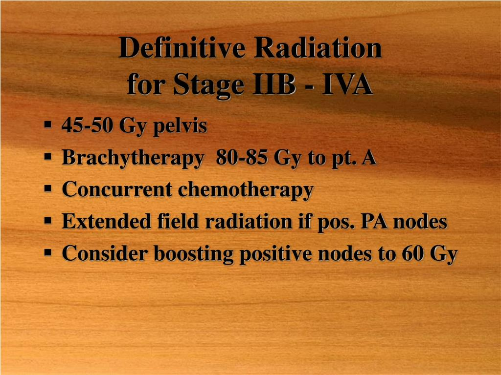 Definitive Radiation