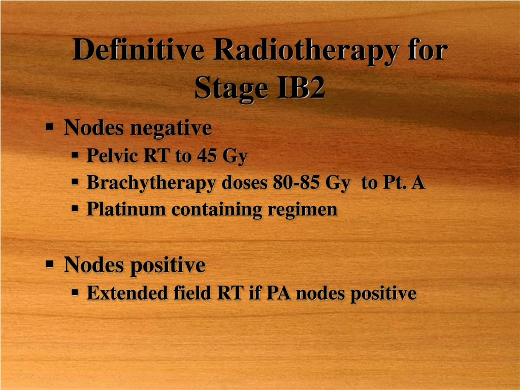 Definitive Radiotherapy for Stage IB2