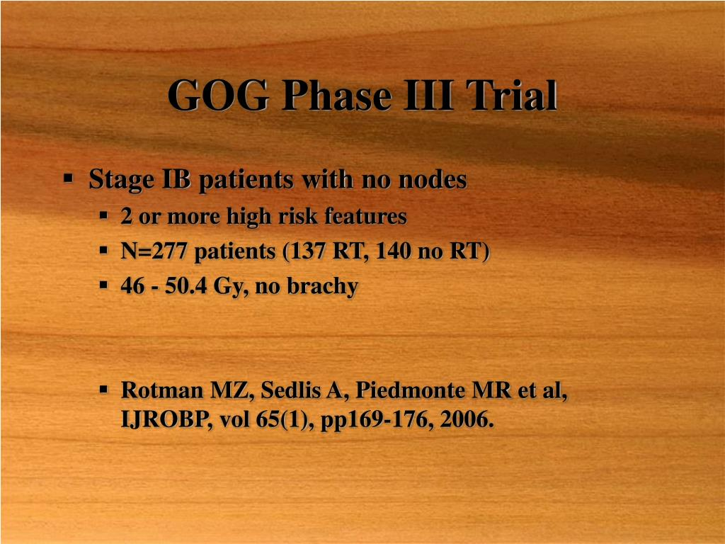 GOG Phase III Trial