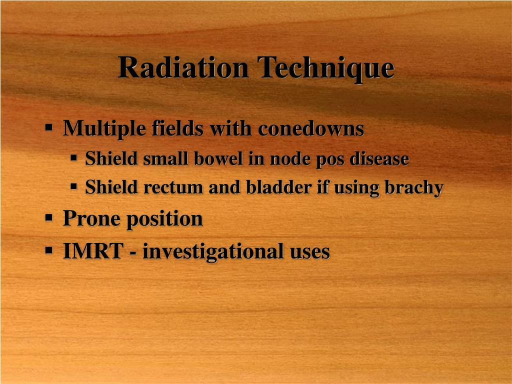 Radiation Technique
