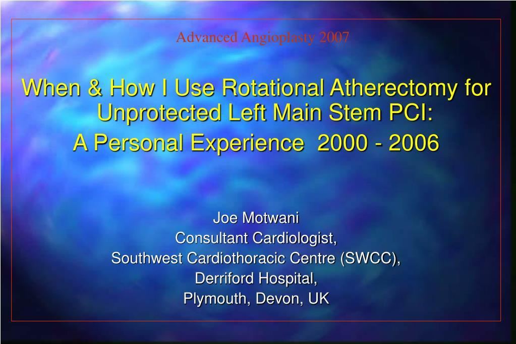 Advanced Angioplasty 2007