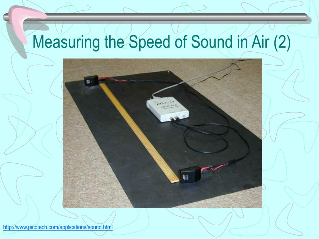 Measuring the Speed of Sound in Air (2)