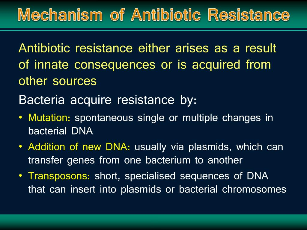 Mechanism of Antibiotic Resistance
