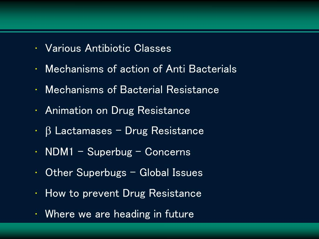 Various Antibiotic Classes