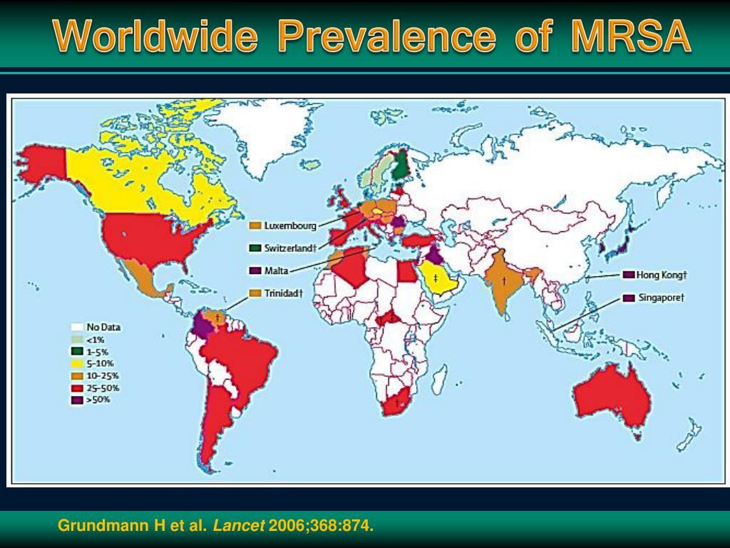 Worldwide Prevalence of MRSA