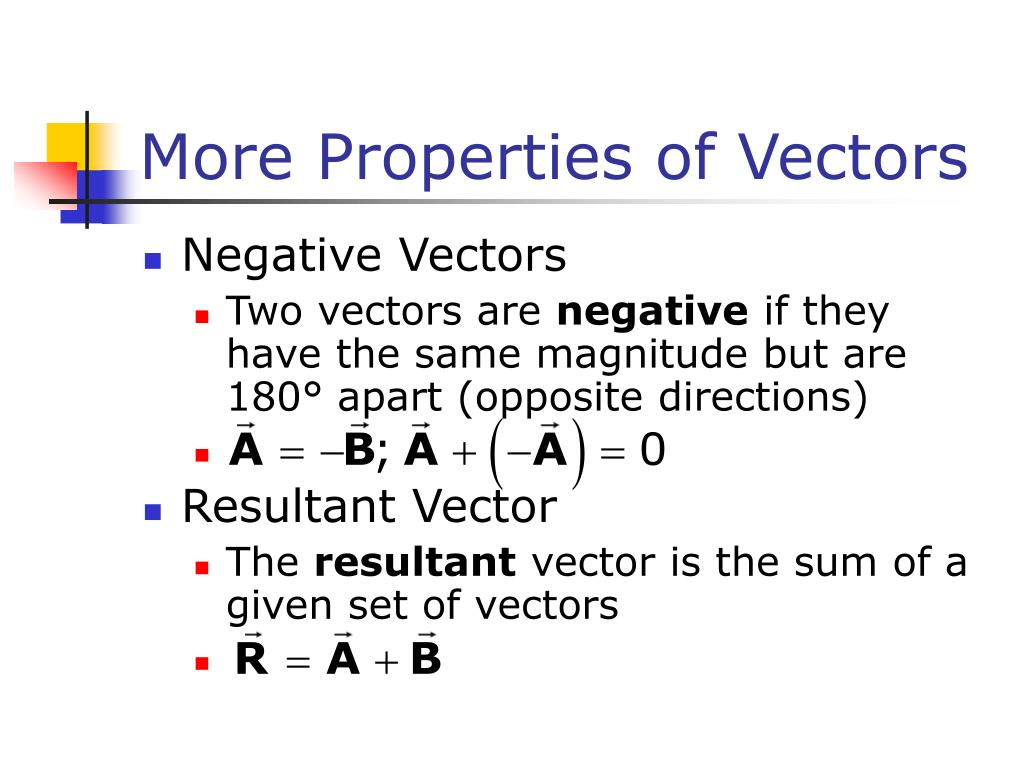 More Properties of Vectors