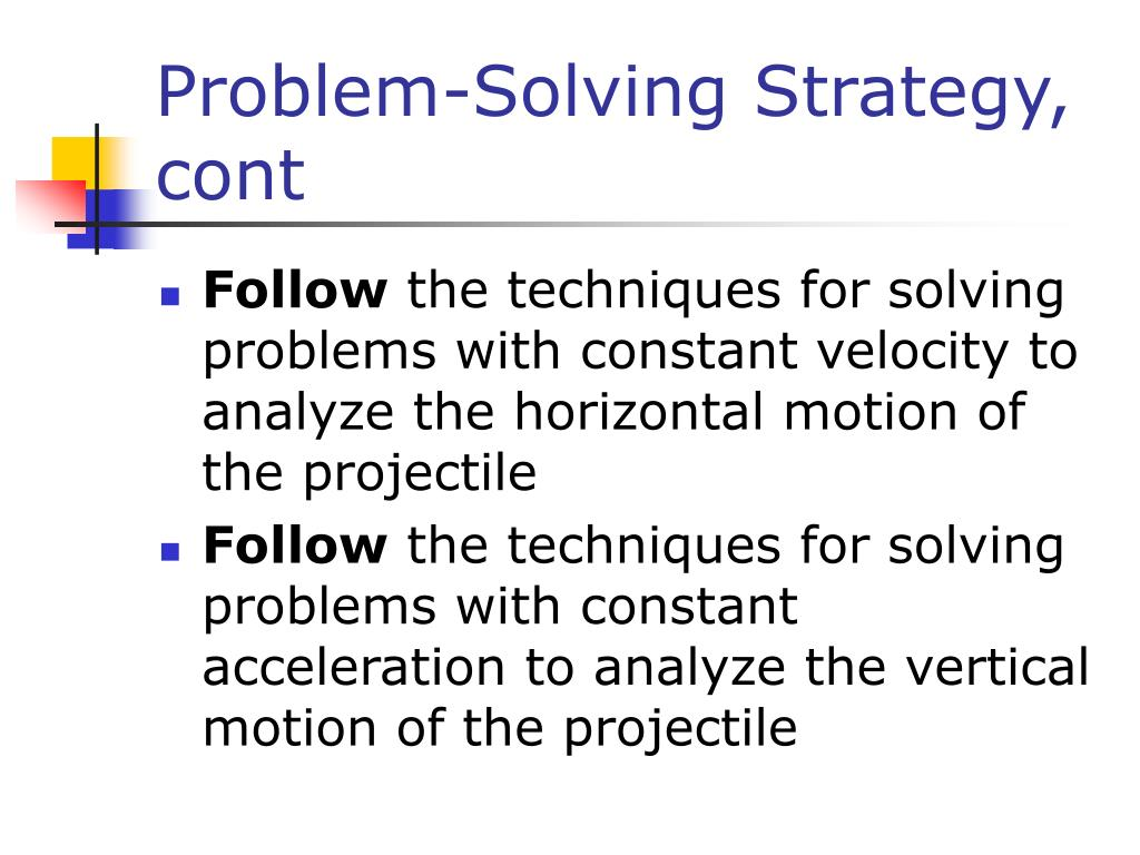 Problem-Solving Strategy, cont