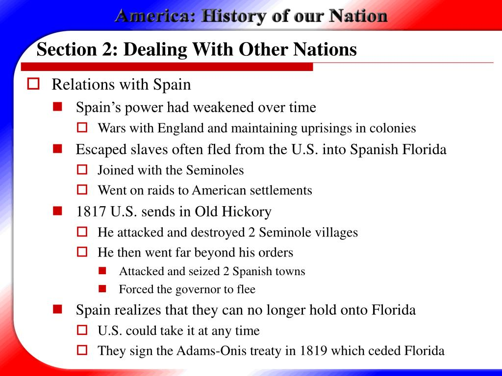 Section 2: Dealing With Other Nations