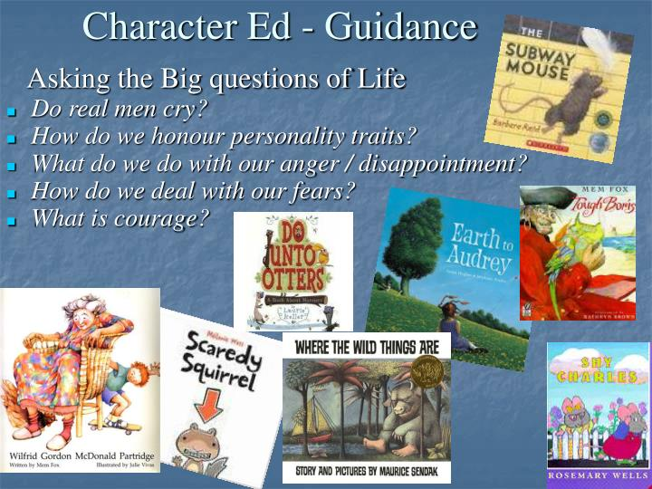 Character Ed - Guidance