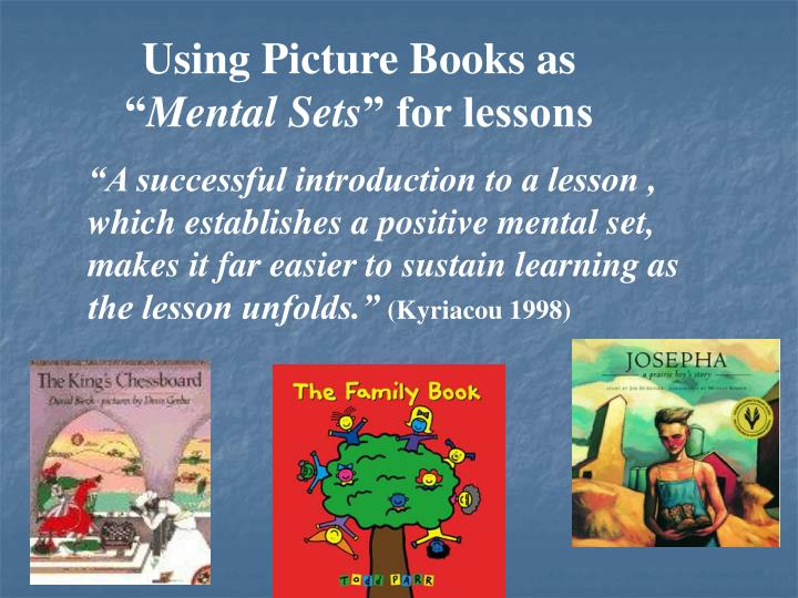 Using Picture Books as ""