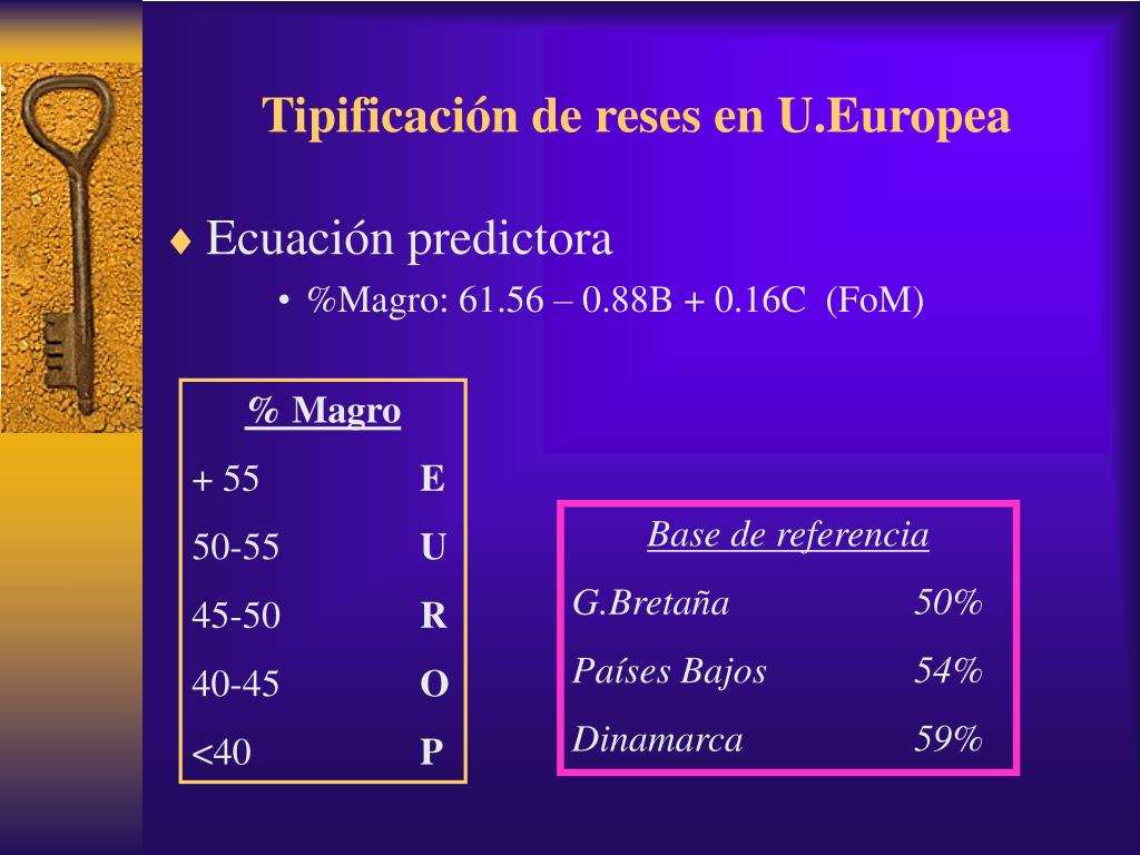 Tipificación de reses en U.Europea