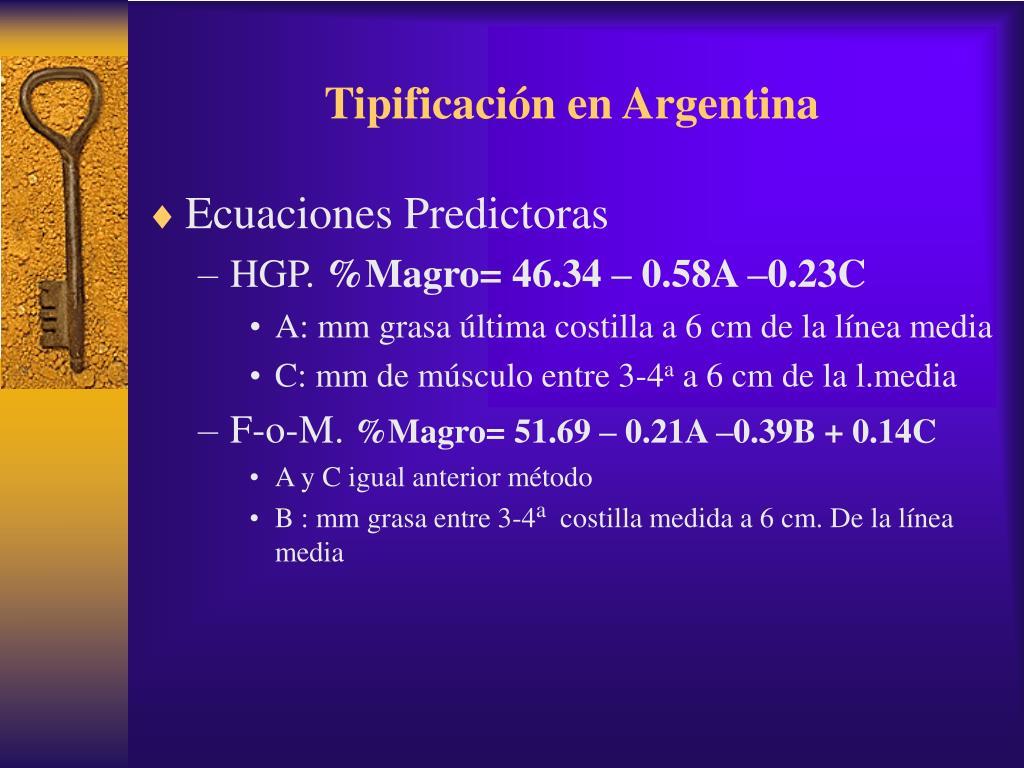 Tipificación en Argentina