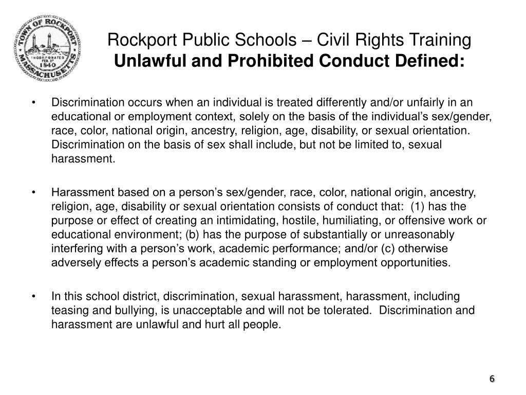 Rockport Public Schools – Civil Rights Training