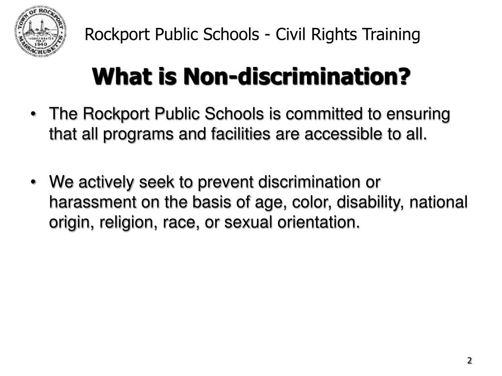 The Rockport Public Schools is committed to ensuring that all programs and facilities are accessible to all.