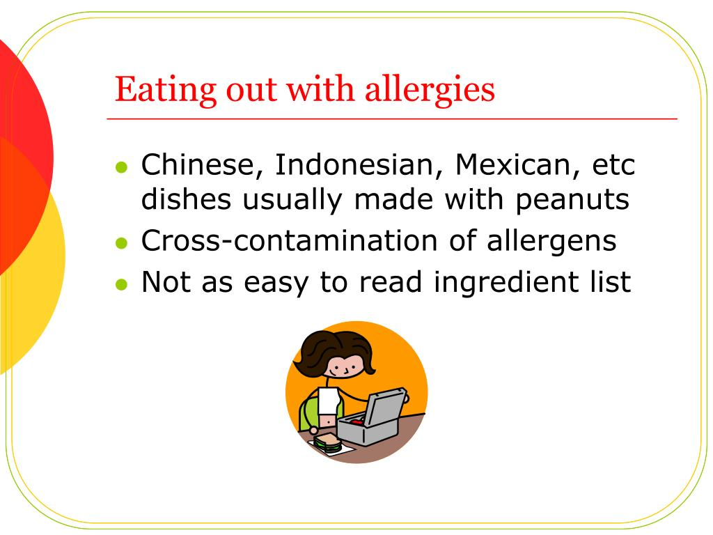 Eating out with allergies