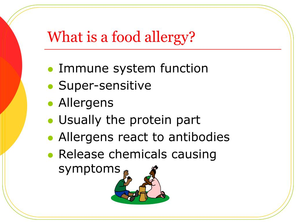 What is a food allergy?