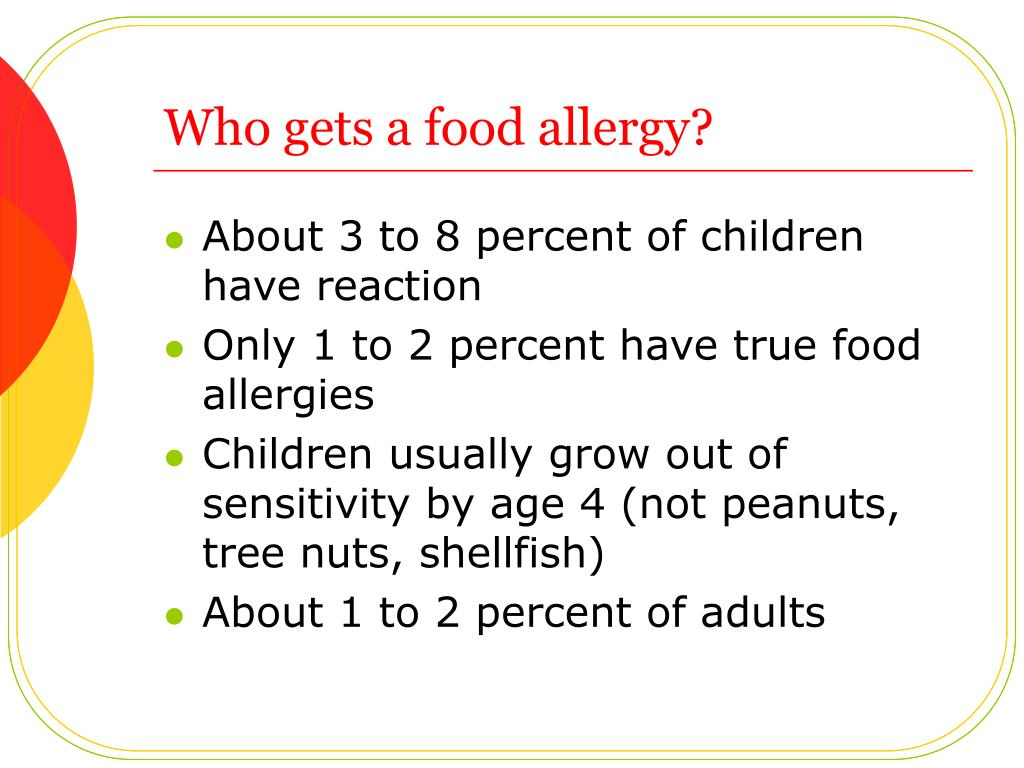 Who gets a food allergy?