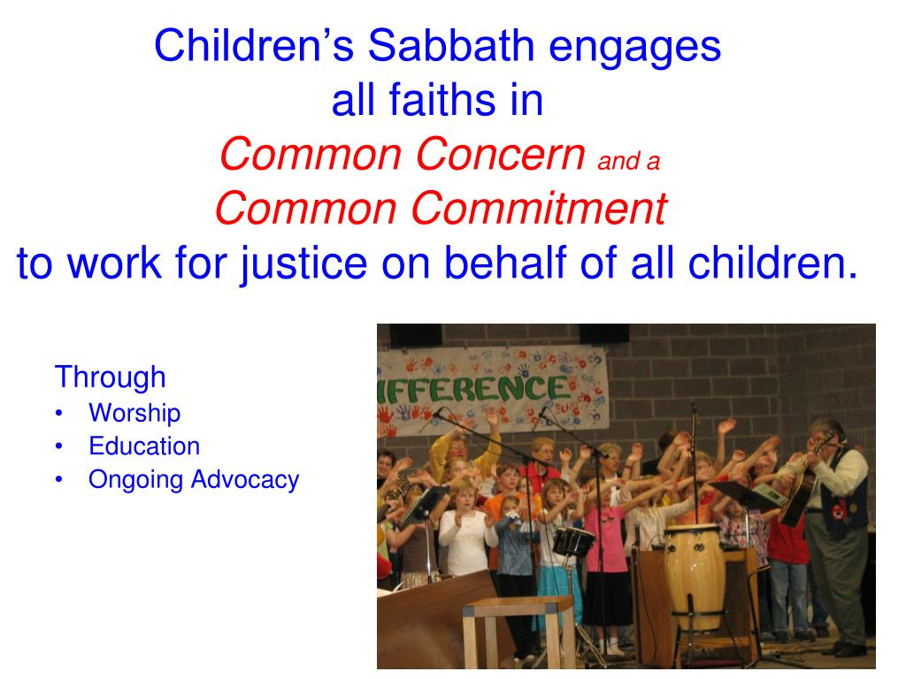 Children's Sabbath engages